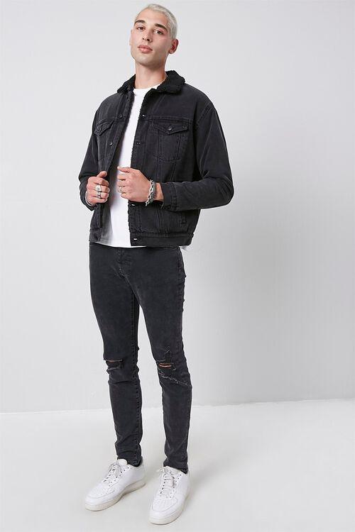 Faux Shearling Denim Jacket, image 4