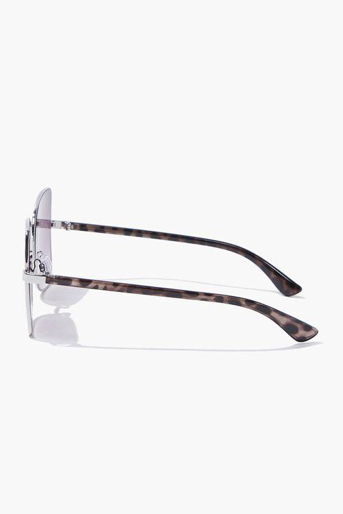 Square Leopard Print Sunglasses, image 3
