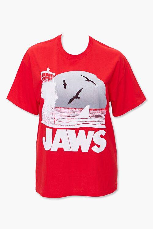 RED/MULTI Plus Size Jaws Graphic Tee, image 1