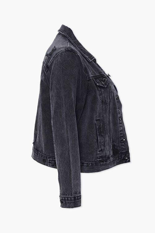 Plus Size Distressed Denim Jacket, image 2