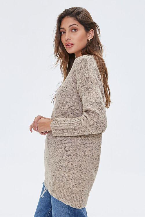 Marled Mock Neck Sweater, image 2