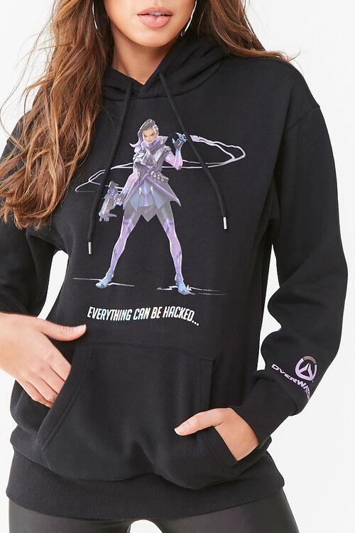 Fleece Overwatch Graphic Hoodie, image 1