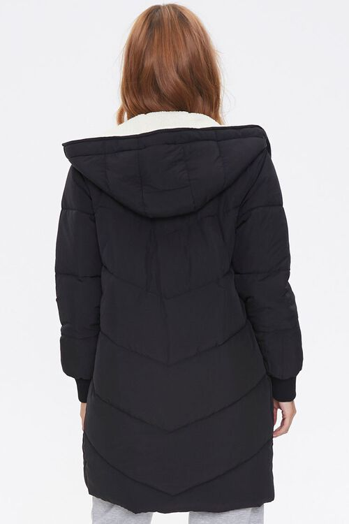 Faux Shearling-Lined Puffer Jacket, image 3