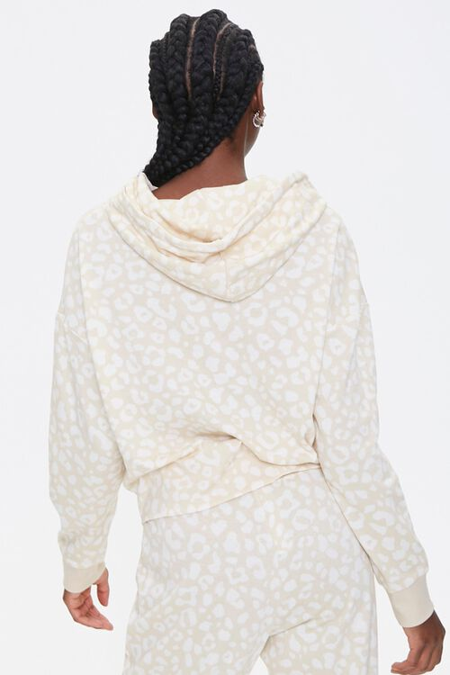 French Terry Leopard Hoodie, image 3