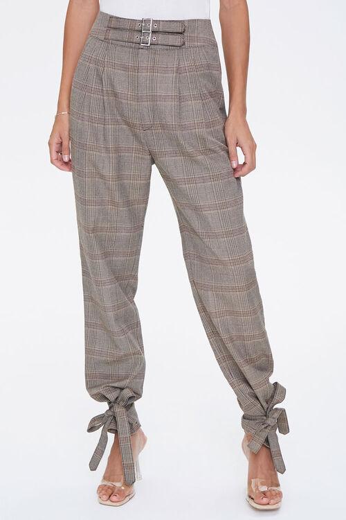 Plaid Ankle-Tie Pants, image 2