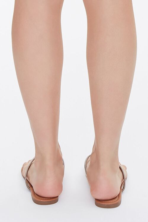 Faux Patent Leather Thong Sandals, image 3