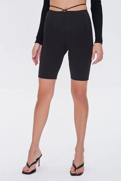 Crisscross Biker Shorts, image 2
