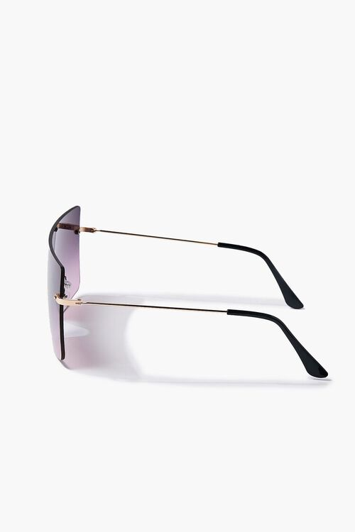 GOLD/PINK Ombre Shield Sunglasses, image 3