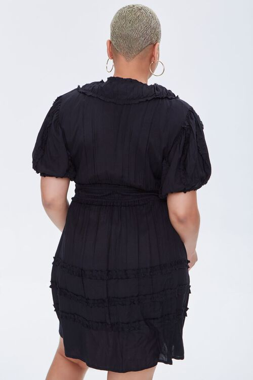 Plus Size Plunging Mini Dress, image 3