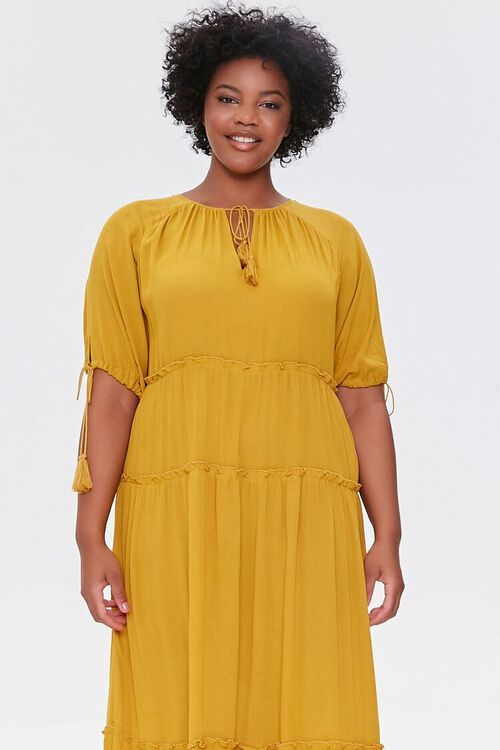 Plus Size Tiered Maxi Dress, image 4