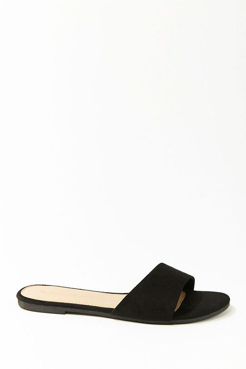 Faux Suede Slip-On Sandals, image 1