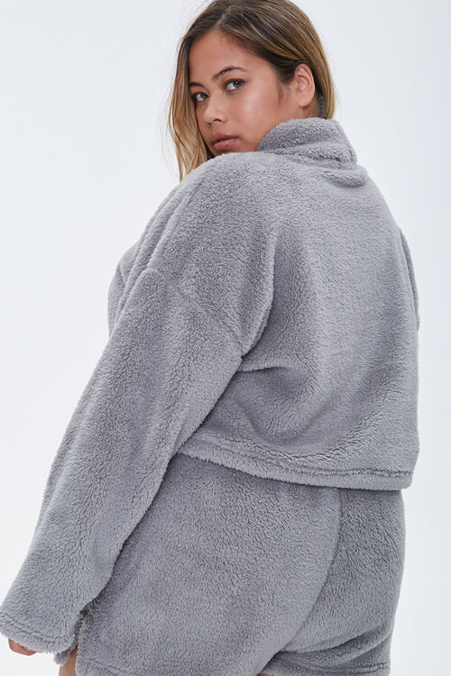 Plus Size Fuzzy Pullover, image 3