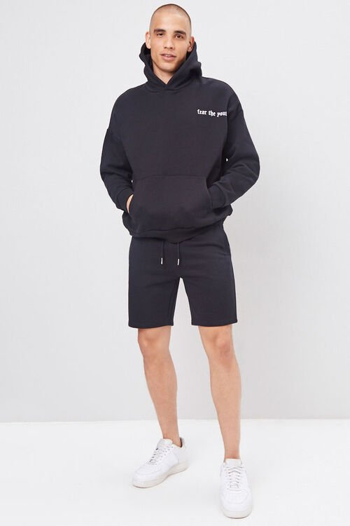 French Terry Drawstring Shorts, image 6