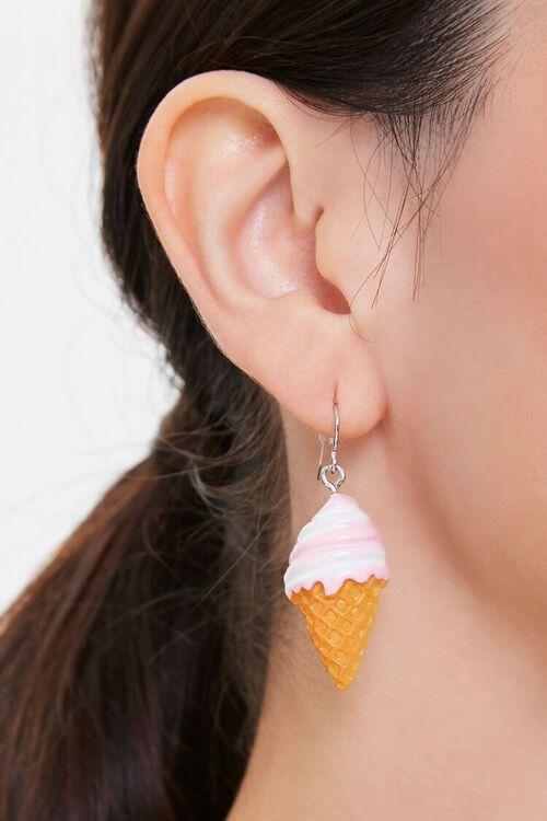 Ice Cream Cone Pendant Drop Earrings, image 1