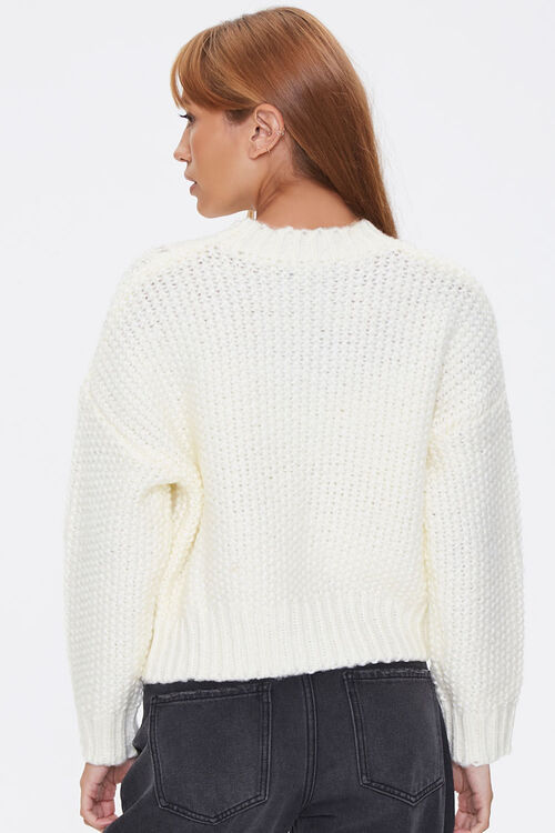 Pointelle Knit Sweater, image 3