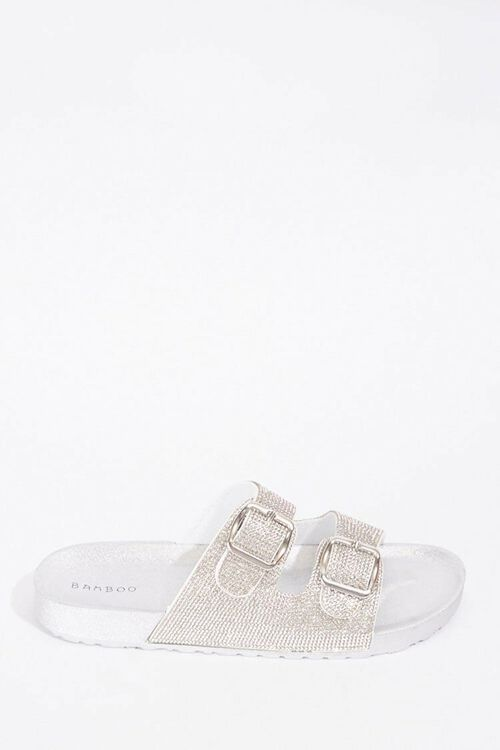 Metallic Dual-Strap Sandals, image 1