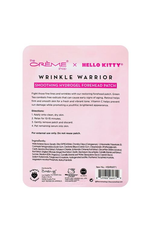 PINK/MULTI Hello Kitty - Wrinkle Warrior Smoothing Hydrogel Forehead Patch, image 5