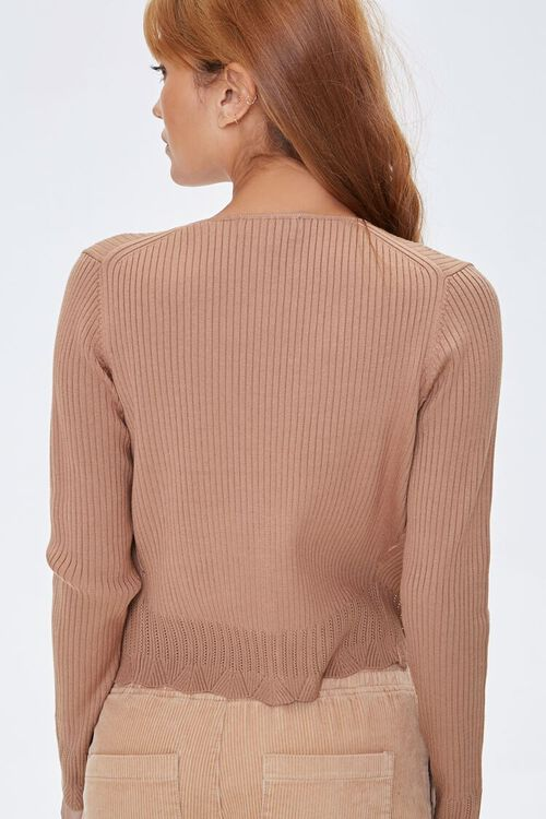 Ribbed Cardigan Sweater & Tank Top Set, image 3