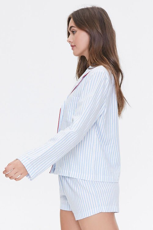 Striped Print Pajama Set, image 2