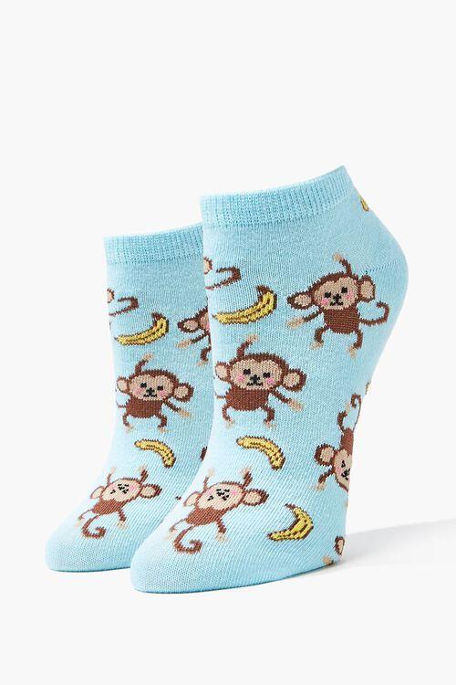 Monkey Graphic Ankle Socks, image 1