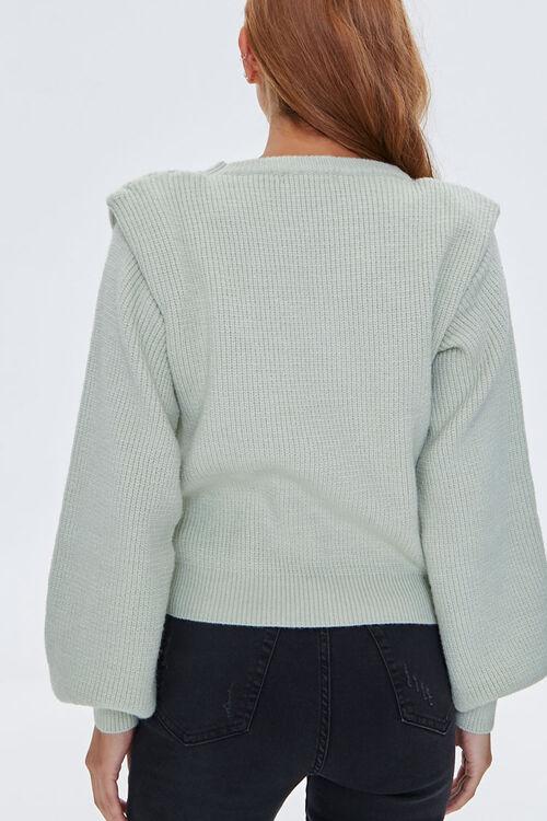 Ribbed Shoulder-Pad Sweater, image 3