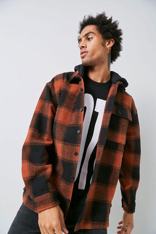 Plaid Hooded Jacket, image 1