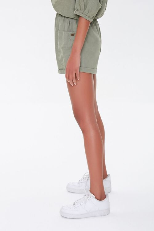 Kendall & Kylie Linen-Blend Shorts, image 3