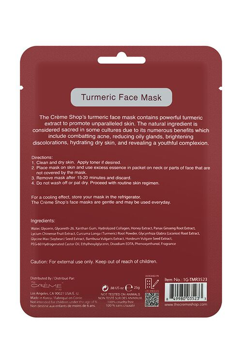 RED Turmeric Face Mask, image 2