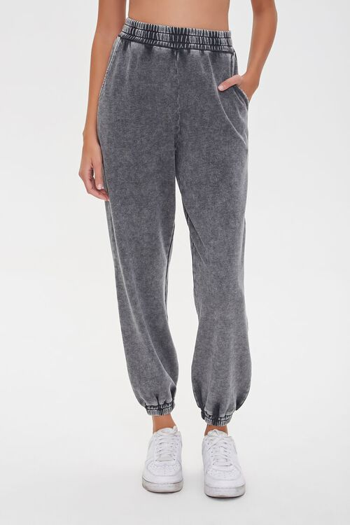 Oil Wash Smocked Joggers, image 2