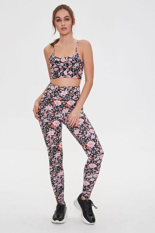 Active Floral Print Leggings, image 1