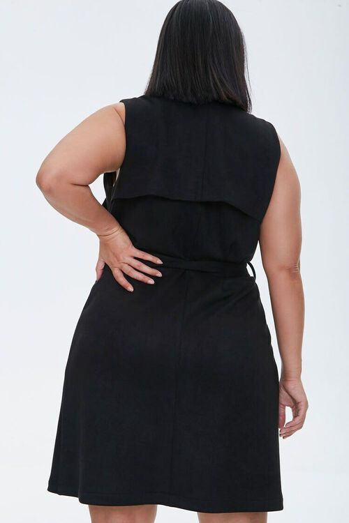 Plus Size Belted Duster Vest, image 3