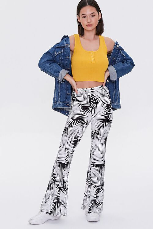Jordyn Tropical Print Flare Pants, image 1