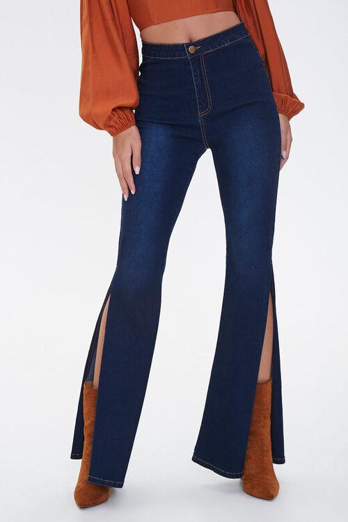 High-Rise Slit Flare Jeans, image 2