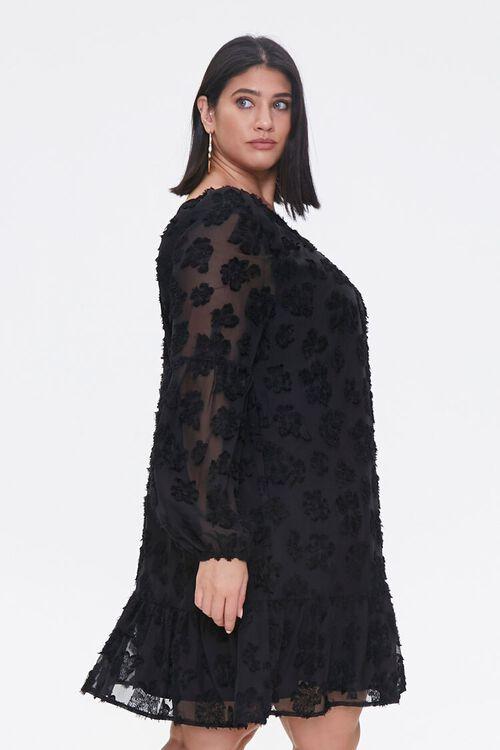 Plus Size Floral-Embellished Peasant Dress, image 2