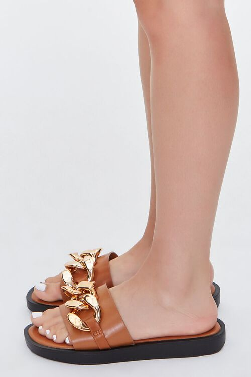 Curb Chain Slip-On Wedges, image 2