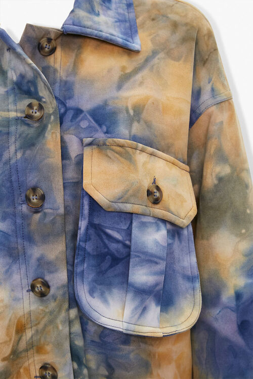 Tie-Dye Button-Front Jacket, image 4