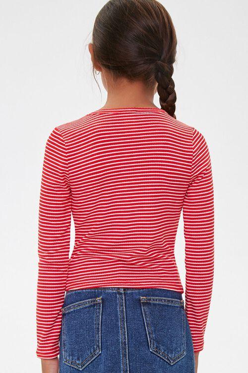 Girls Pinstriped Long Sleeve Top (Kids), image 2