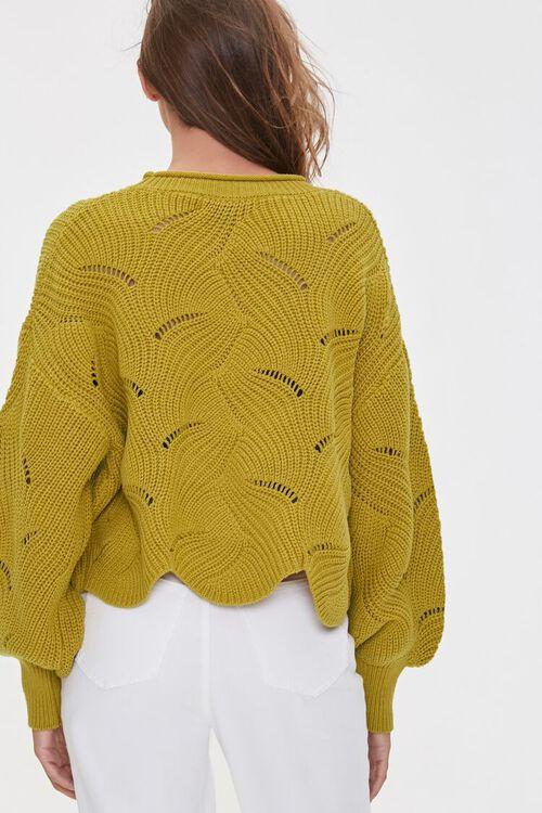 Scalloped Balloon-Sleeve Sweater, image 3