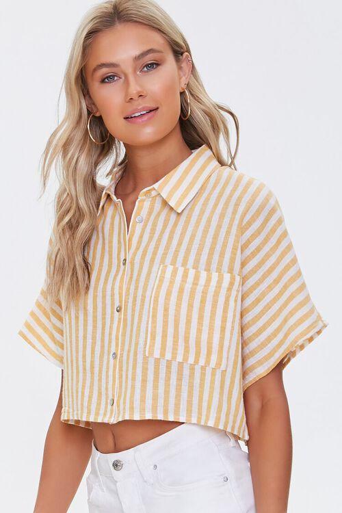 Striped Linen-Blend Shirt, image 5