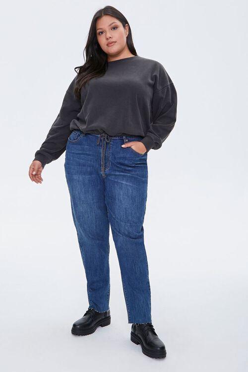 Plus Size Boxy Fleece Sweatshirt, image 4