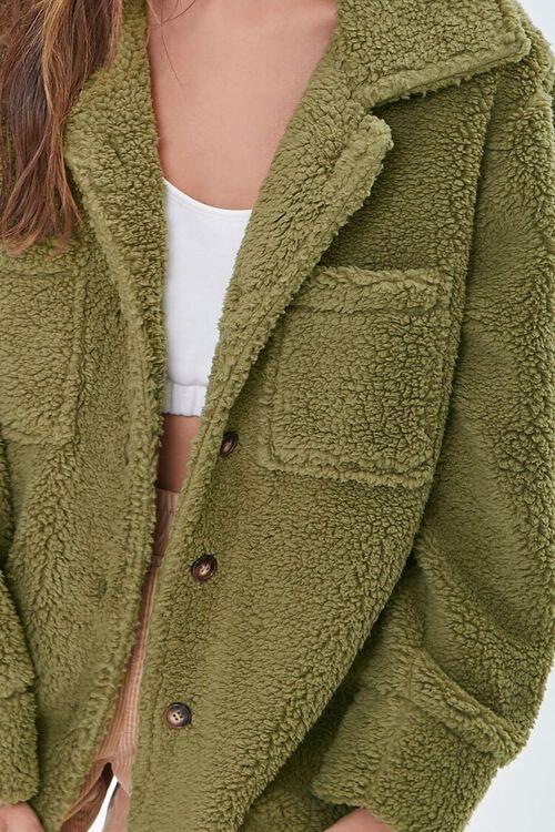 Faux Shearling Drop-Sleeve Jacket, image 5