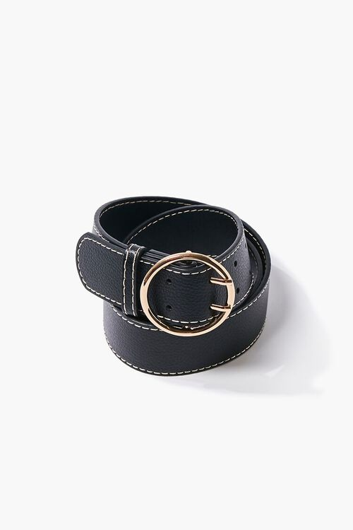 Textured Faux Leather Belt, image 3