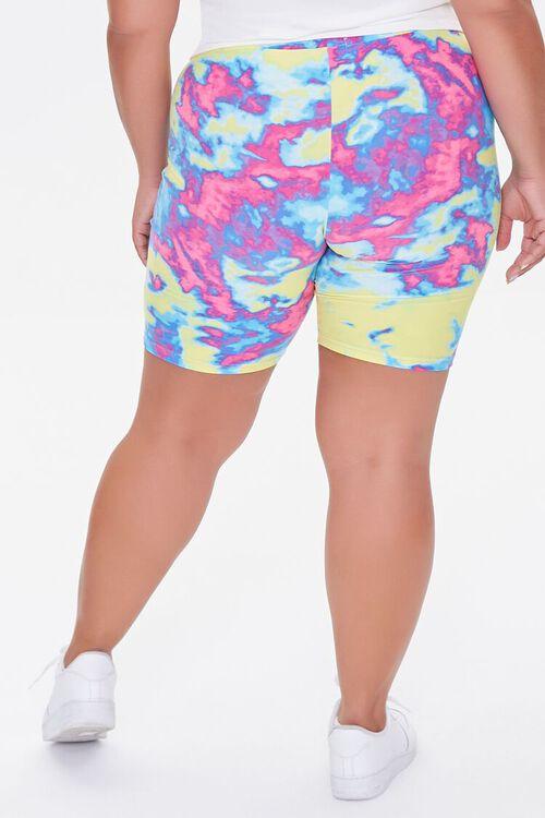 Plus Size Tie-Dye Biker Shorts, image 4