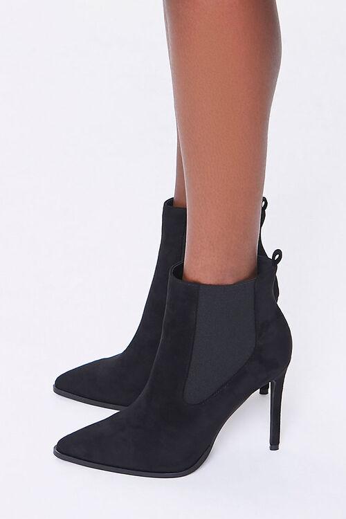 Faux Suede Stiletto Chelsea Boots, image 2