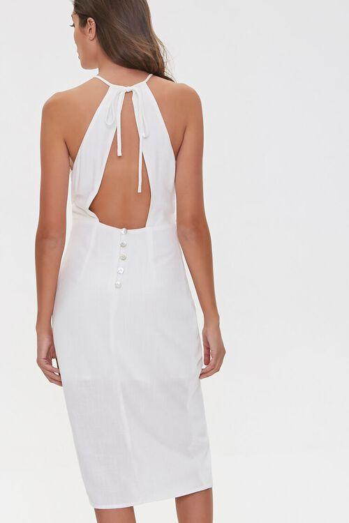 Tie-Front Plunge-Back Dress, image 2