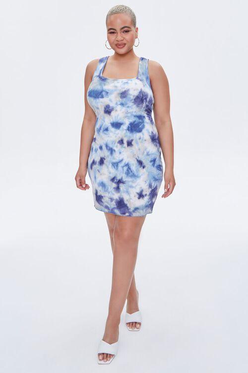 Plus Size Tie-Dye Bodycon Dress, image 4