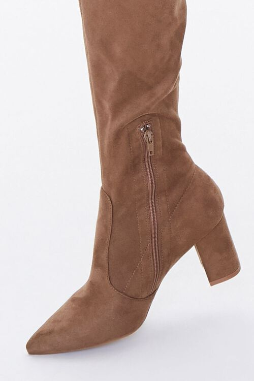 Faux Suede Over-the-Knee Boots, image 5