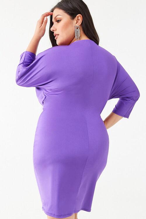 Plus Size Knotted Mini Dress, image 3