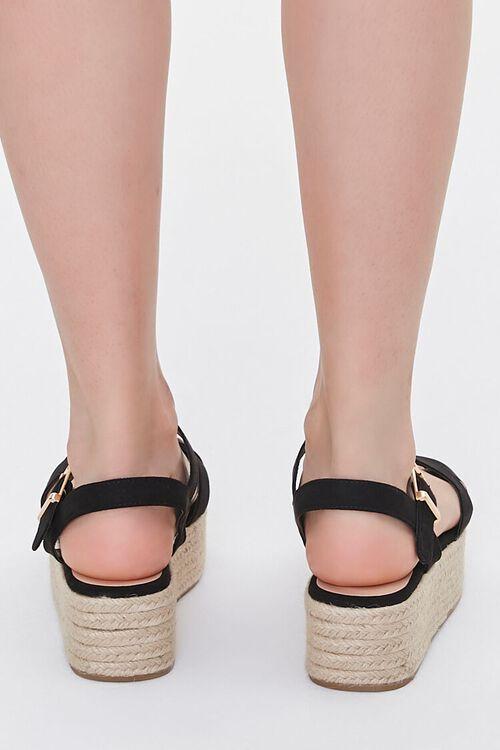 Faux Suede Espadrille Flatform Sandals, image 3