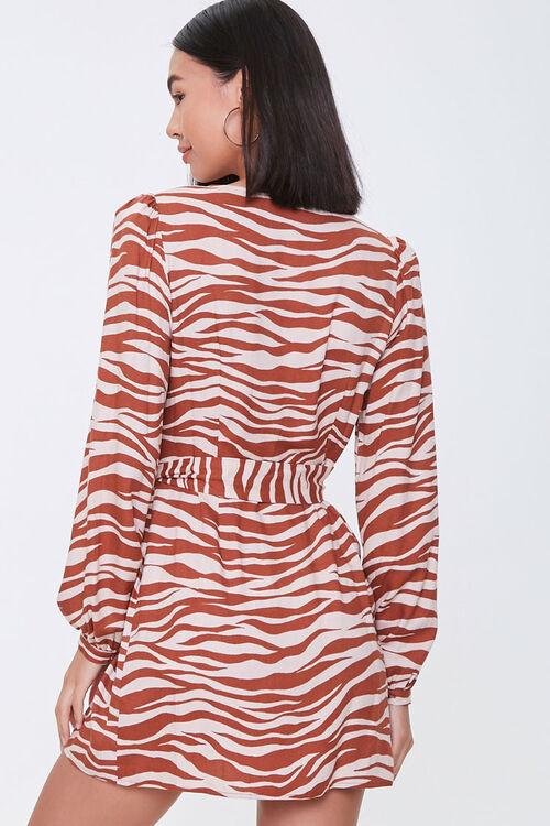 TAUPE/RUST Tiger Print Mini Dress, image 3